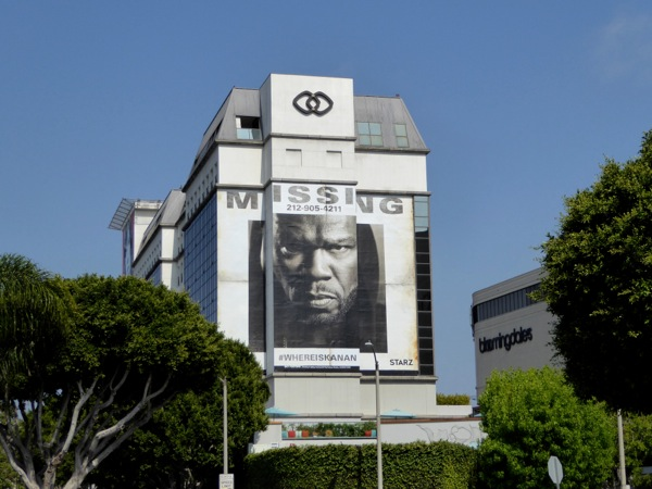 Giant 50 Cent Power season 3 Missing teaser billboard