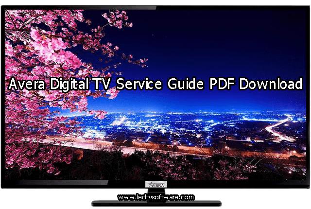 Avera Digital LED TV User Manual Guide PDF Download