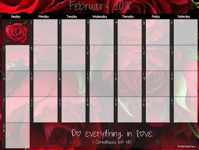 A calendar ready for your ideas and plans.