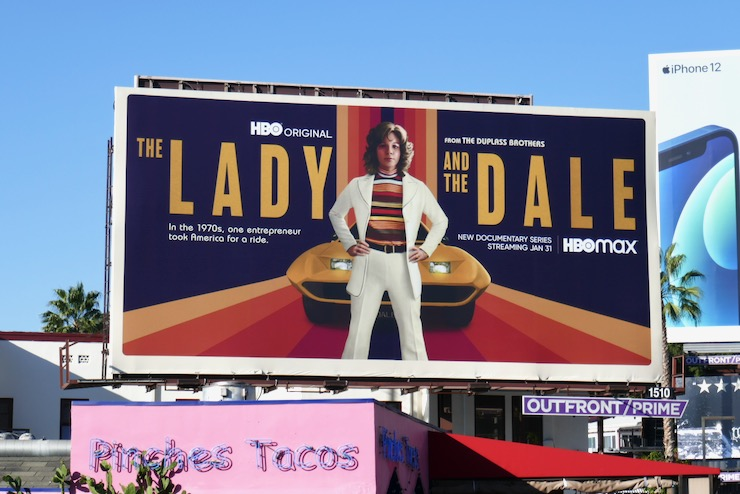 Lady and the Dale docuseries billboard