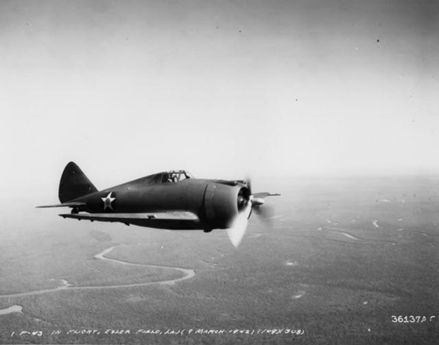 Republic P-43A 9 March 1942 worldwartwo.filminspector.com