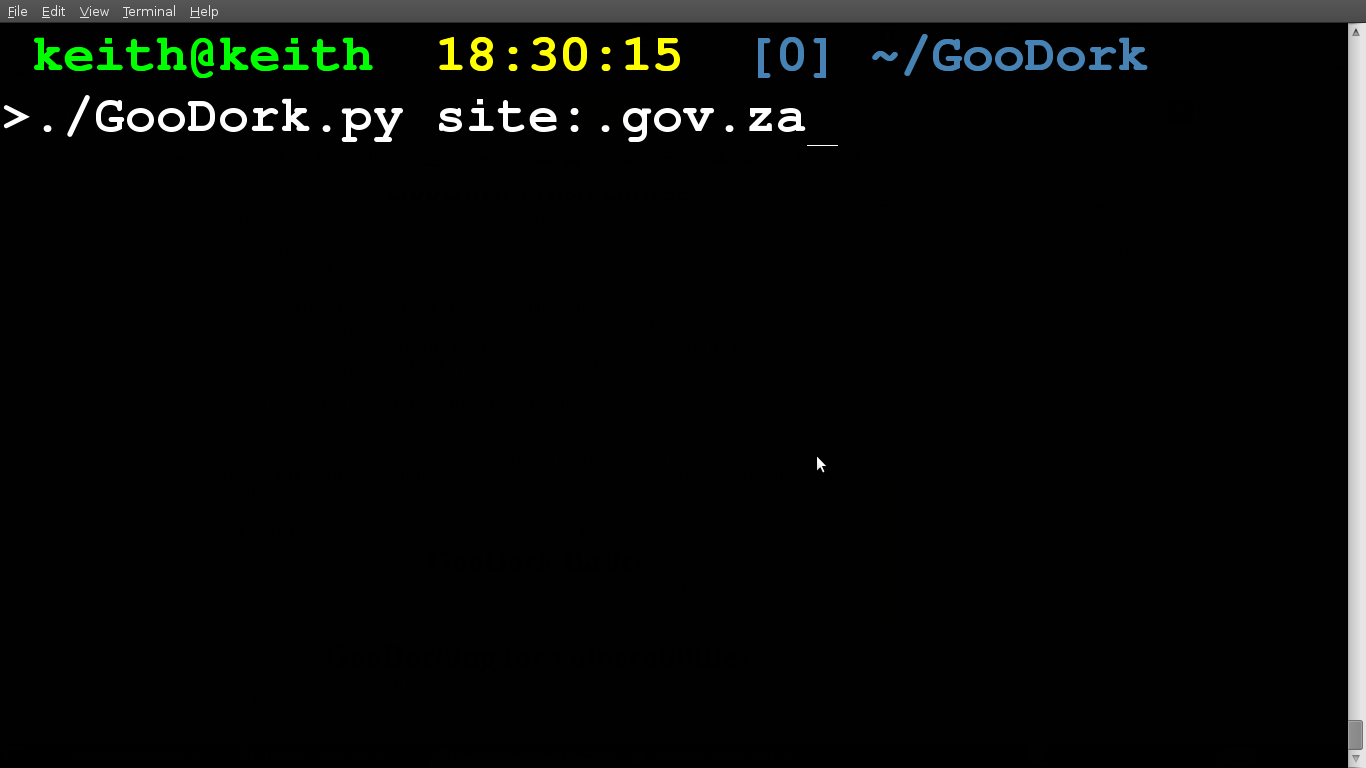 GooDork : Super Charging your Google Hacking
