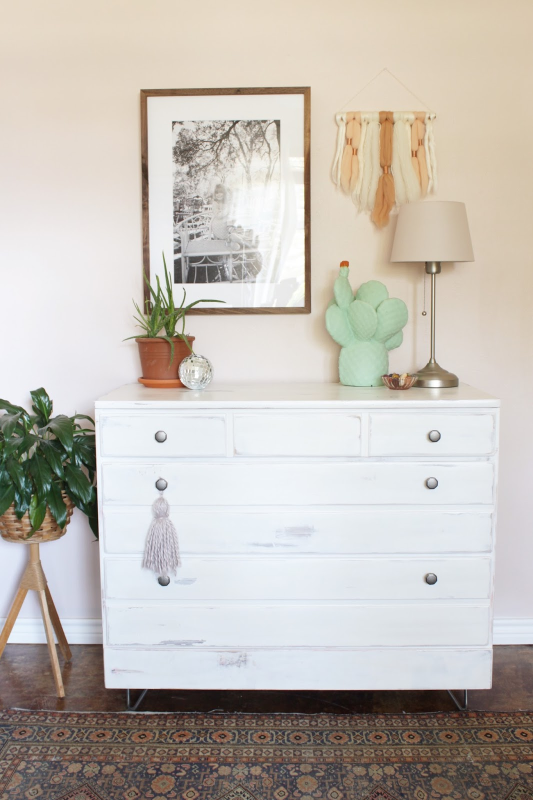 Dresser makeover with the hairpin leg co.