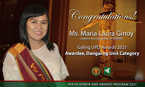 Ms. Ginoy Receives the First 2021 Dangal ng UPD Award