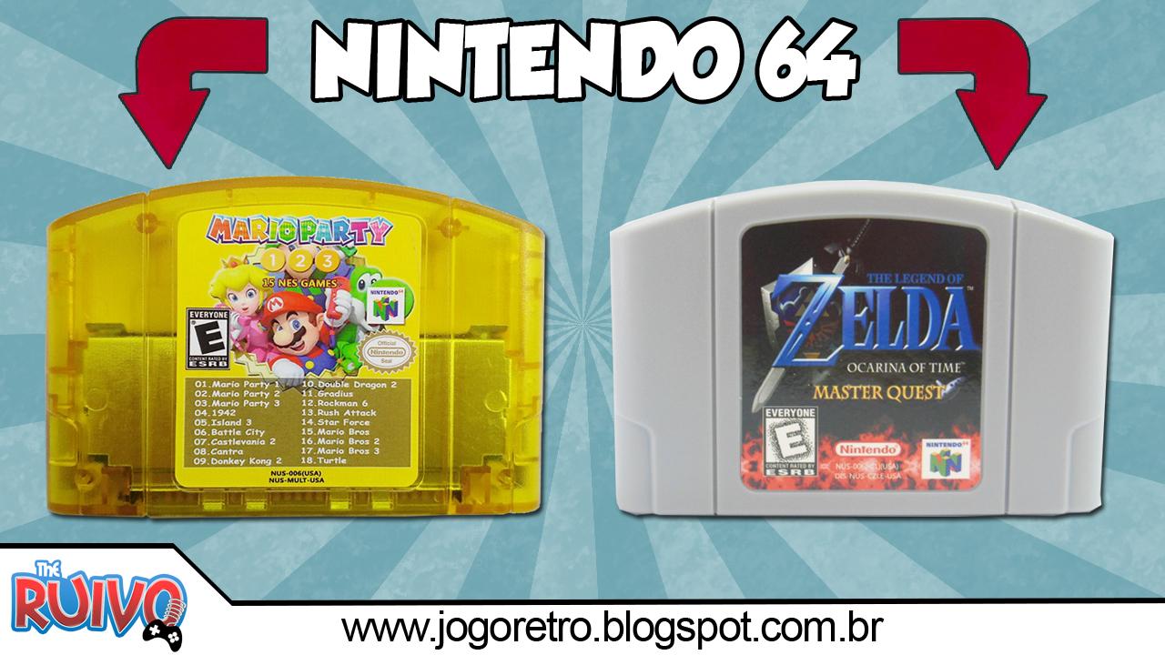 Zelda OOT Master Quest & Multicart N64 18 in 1 Mario Party
