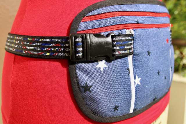 Learn how to make a running belt to keep valuables handy & safe. Free pattern & tutorial by So Sew Easy