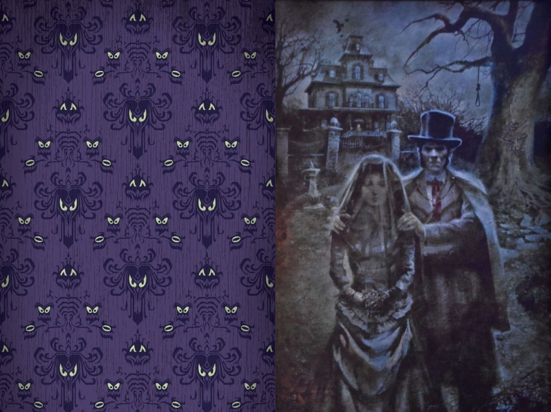 Pattern et litographie phantom Manor Disneyland