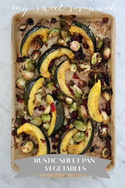rustic sheet pan vegetables