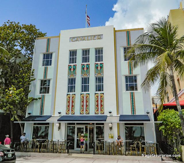 Hotel Cavalier, arquitetura art déco em South Beach, Miami Beach