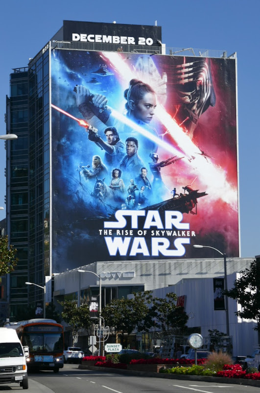 Star Wars Rise of Skywalker film billboard