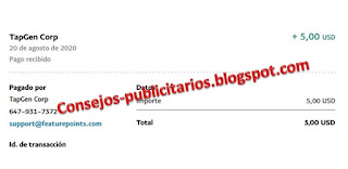 FeaturePoints paga - Paypal