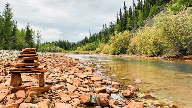 Dempster Highway 5 Canada Rock River campground