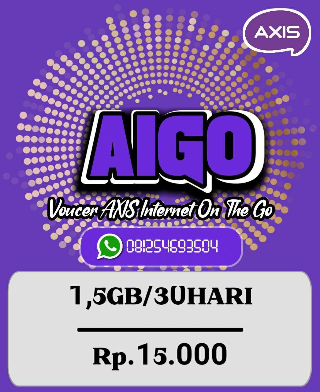 Voucer Axis 1,5GB/30HARI