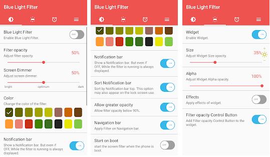 تحميل برنامج حماية العين  من تاثير الضوء الازرق النسخة المدفوعة مجانا
