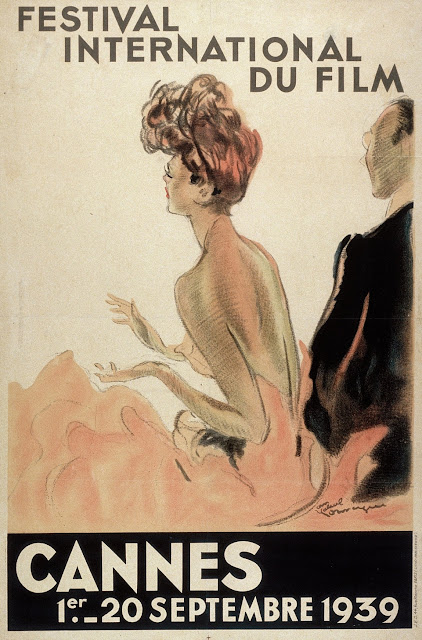 The Jean-Gabriel Domergue-designed poster for the first film festival in Cannes, which was prematurely cut short after Hitler's invasion of Poland in 1939.