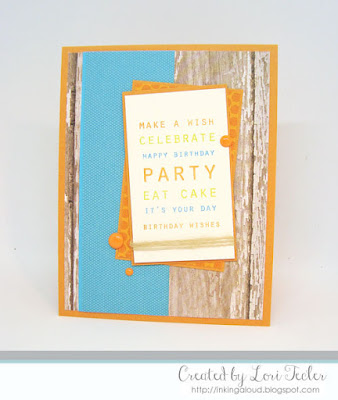 Birthday Sentiments card-designed by Lori Tecler/Inking Aloud-stamps from Papertrey Ink