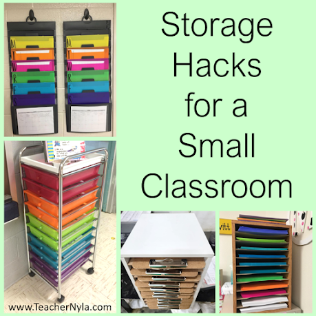 Storage Hacks for a Small Classroom