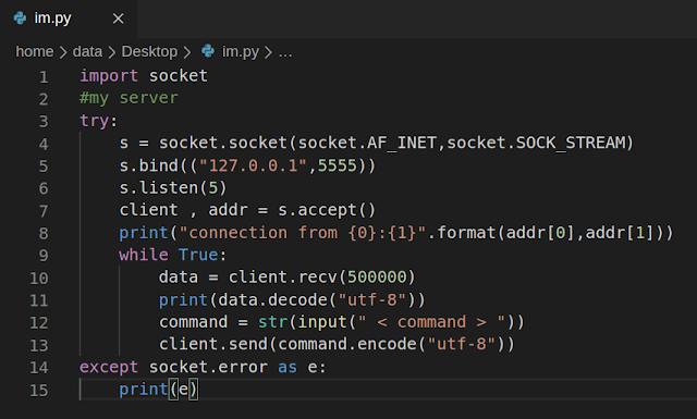التعرف على كيفية انشاء بايلود في البايثون simple command Payload الدرس |20|