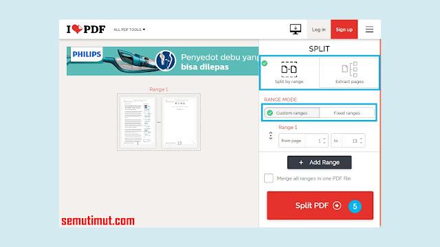 Cara Memisahkan File PDF Per Lembar
