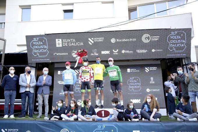 Fernando Tercero ganó la tercera etapa en Muras y se viste de líder de la Volta a Galicia