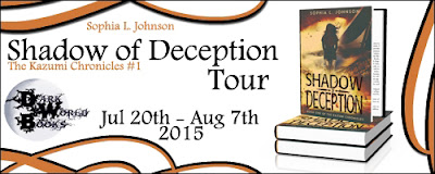 Shadow of Deception by Sophia L Johnson book blog tour banner