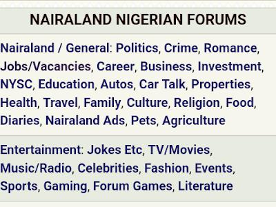Download Nairaland blogger template free