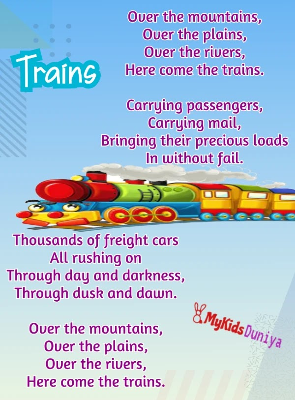 Trains | English Rhymes for Kids