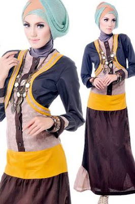 model baju batik muslim remaja hijab