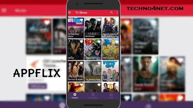 تحميل أحسن تطبيق Appflix Premium آخر إصدار لتحميل ومشاهدة أحدث الأفلام والمسلسلات الأجنبية