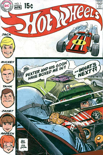 Hot Wheels v1 #1 dc 1970s bronze age comic book cover art by Alex Toth