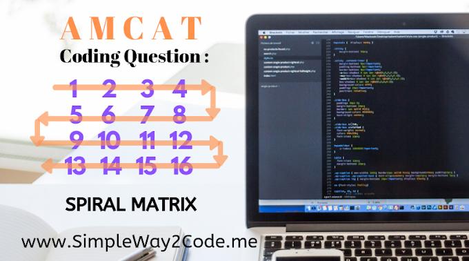 Print a given matrix in spiral form | AMCAT Automata Questions - 4