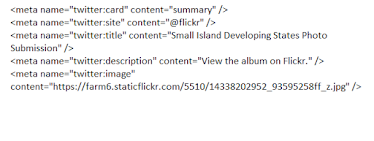 html code for twitter summary card