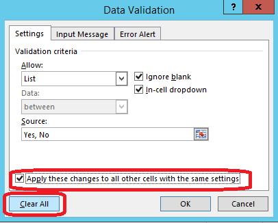 edit delete remove drop down list excel