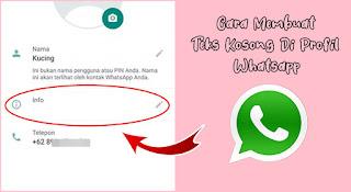 Cara Membuat Status Kosong Di Whatsapp