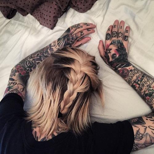 Full Sleeve tattoo for girls