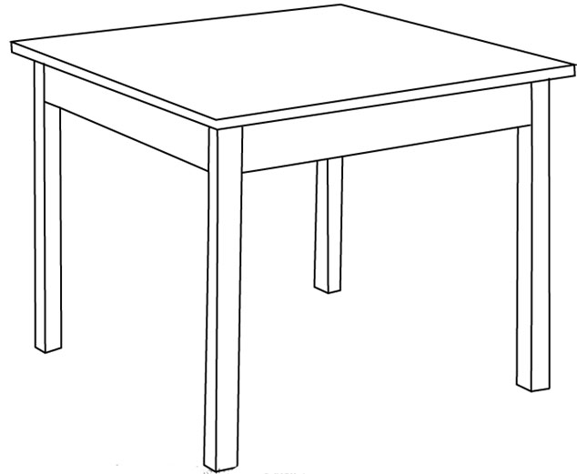 Cara Cepat Menggambar atau Sketsa Meja Sederhana  Belajar