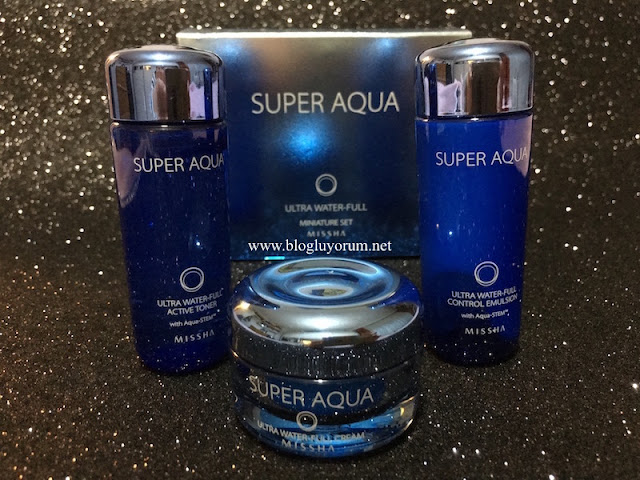 MISSHA SUPER AQUA ULTRA WATER-FULL SERİSİ ACTIVE TONER - CONTROL EMULSION - CREAM