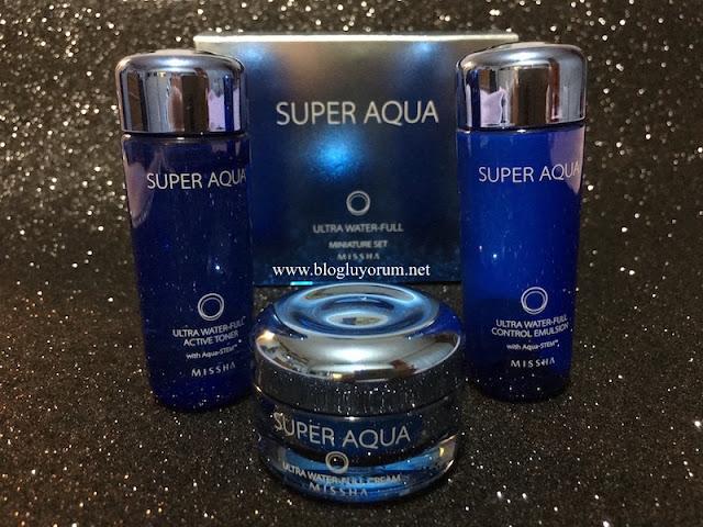 MISSHA SUPER AQUA ULTRA WATER-FULL SERİSİ ACTIVE TONER - CONTROL EMULSION - CREAM