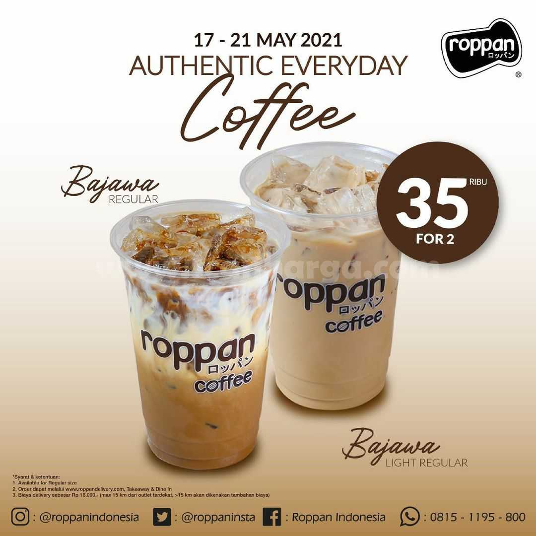 Roppan Promo Spesial Bejawa Coffee Rp 35.000 untuk 2 minuman