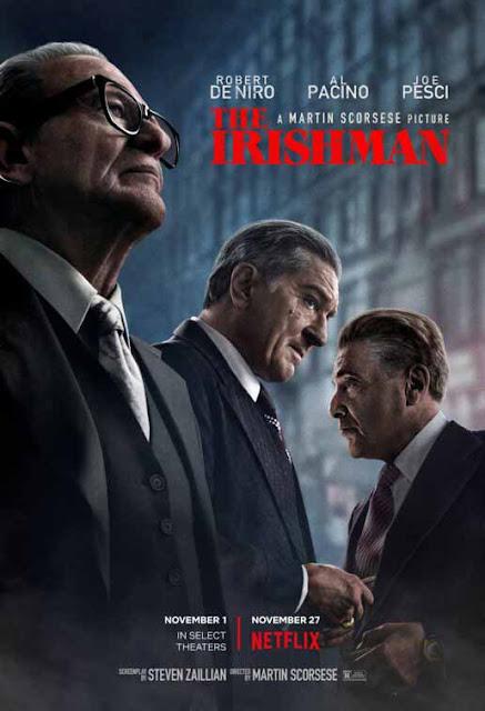 أباطرة أفلام الجريمة يعودون في فيلم The Irishman لمخرجه مارتن سكورسيزي official poster