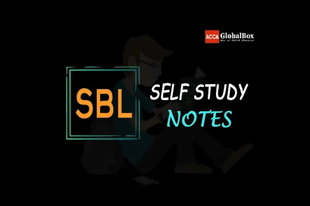 SBL - Self Study Notes | 2021