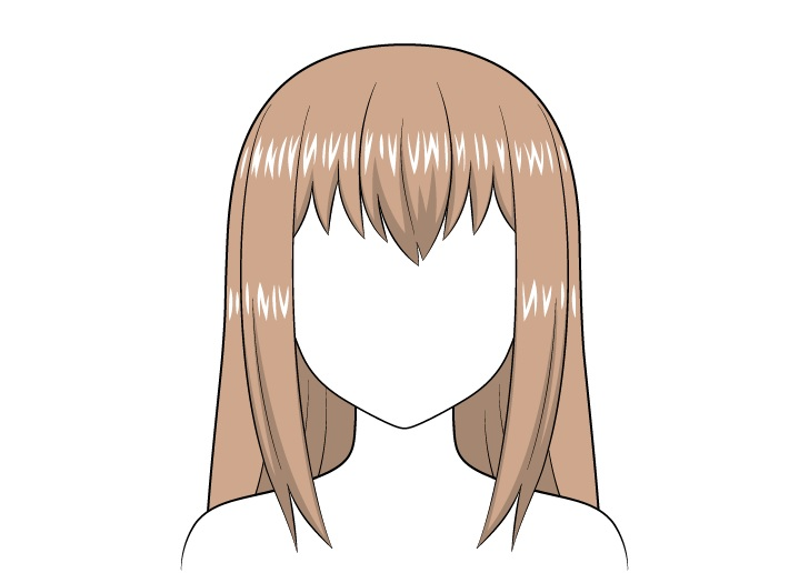 Sorotan rambut panjang anime