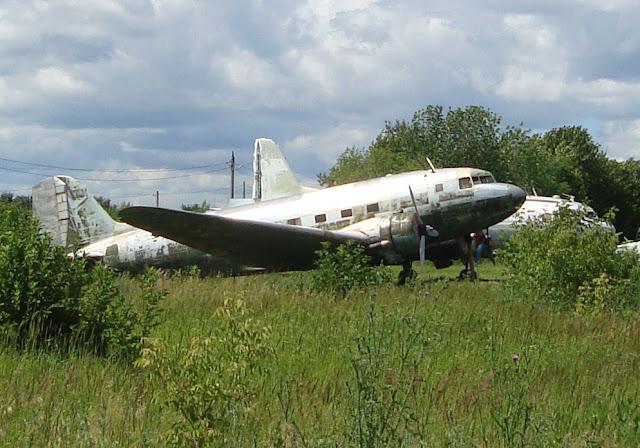 Самолет ЛИ-2 Учебный аэродром Самарского университета
