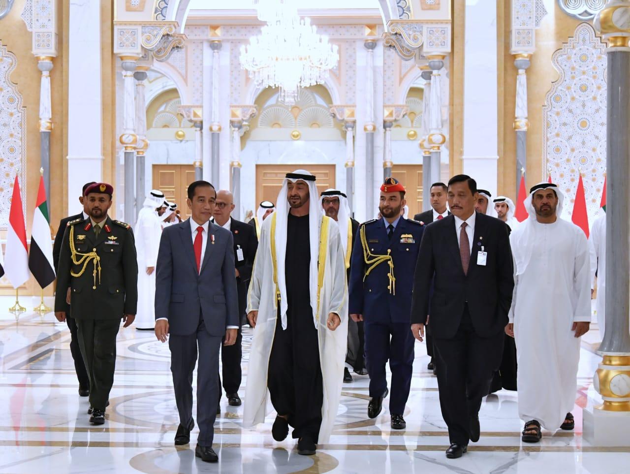 Di Abu Dhabi, Ada Jalan Presiden Jokowi