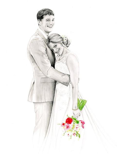 Custom Wedding Photo Drawing