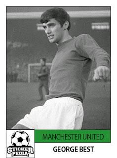 George Best Manchester United sticker FKS
