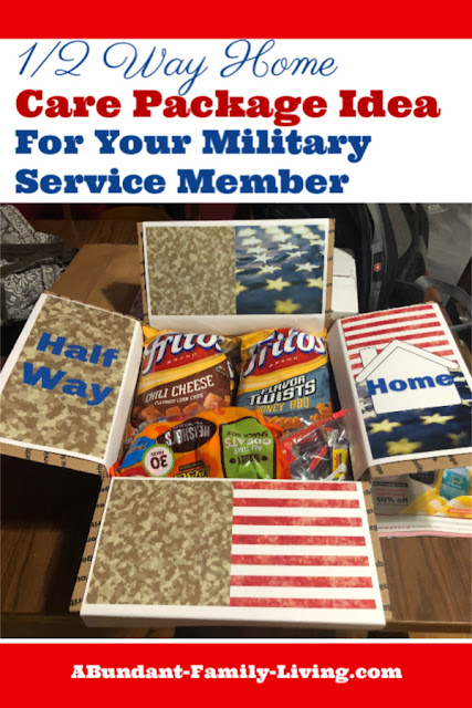 Half Way Home Decorated Care Package Idea for Your Military Service Member
