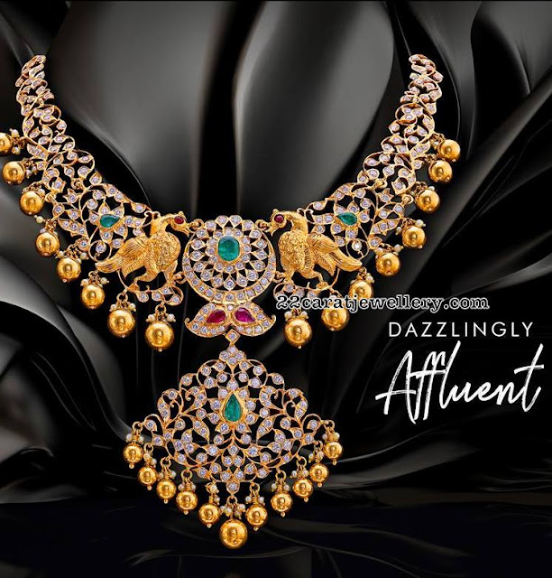 Diamond Peacock Sets by Pushkara Jewellers