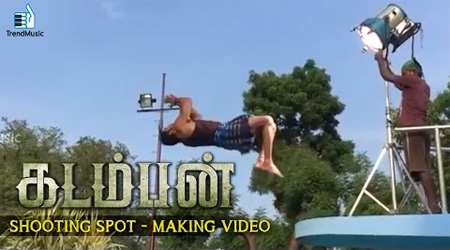 Arya's breath taking Stunts – Kadamban Shooting Spot | Making Video