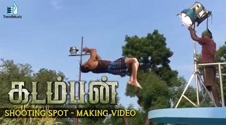Arya's breath taking Stunts – Kadamban Shooting Spot   Making Video